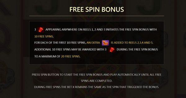 Free Spins Bonus new year slot