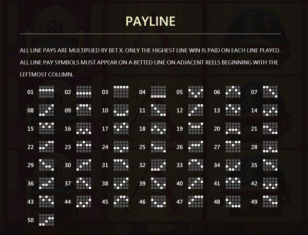 Payline Napoleon Slot