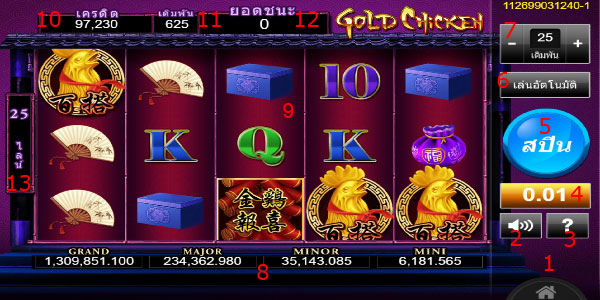 Play information Gold Chicken Slot